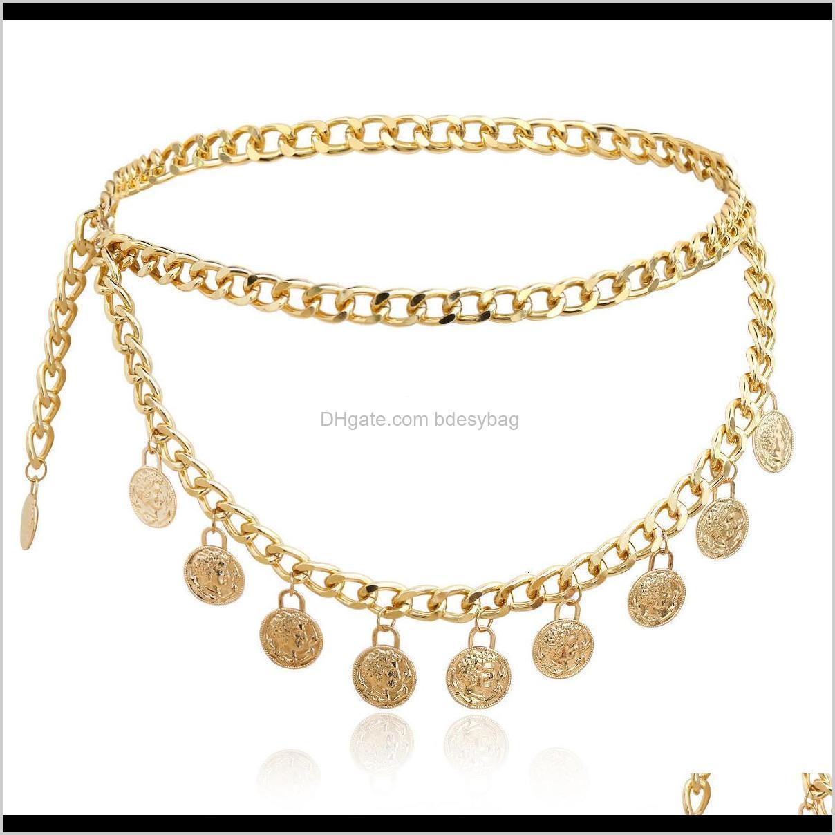 personality portrait coin pendant sexy cool romantic su simple waist chain women`s jewelry 2021
