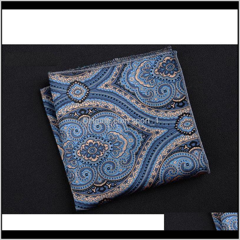luxury men handkerchief polka dot striped floral printed hankies polyester hanky business pocket square chest towel 23*23cm