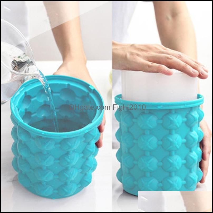 Ice Buckets And Coolers Silicone Bucket Champagne Whisky Beer Cube Maker Portable Wine Cooler Kitchen Tools Accessorie