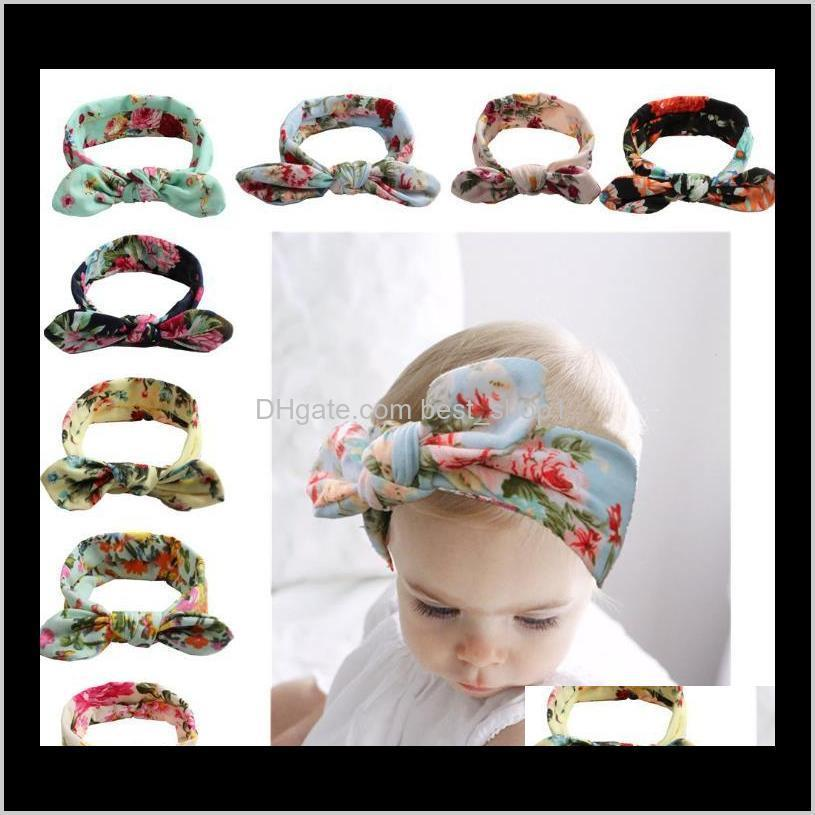 bohemian headband cotton girl baby bowknot flower turban twist head wrap twisted knot soft hair band kids florals headbands bandanas