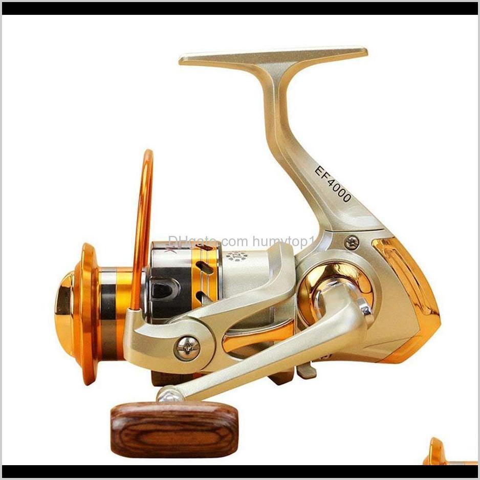 wholesale-ef1000-7000 12bb 5.5:1 metal spinning fishing reel fly wheel for fresh/salt water sea fishing spinning reel carp fishing