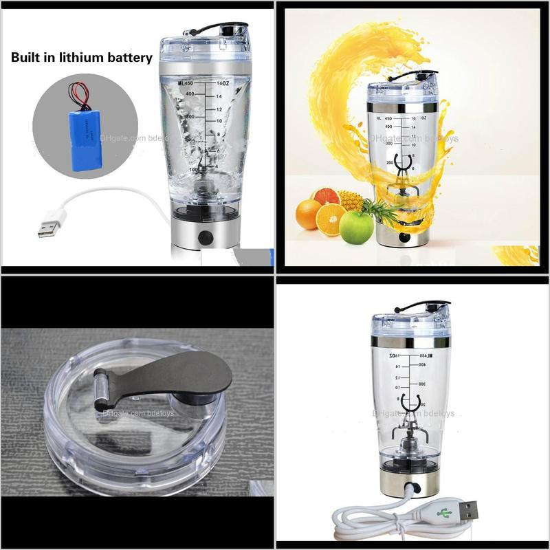 wholesale- 450ml usb charged cup electric automatic mixer built in lithium battery bpa water bottle mixing cup