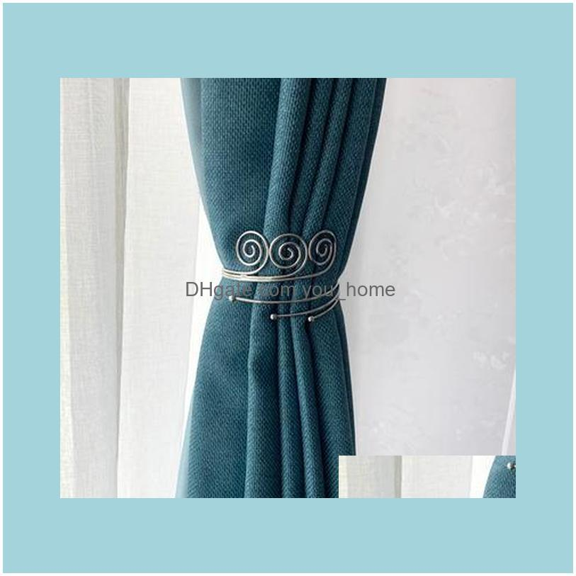 Other Home Decor THINKEASY 2Pcs/set Modern Metal Curtain Bandage Bedroom Living Decoration Accessories Holdback Hooks
