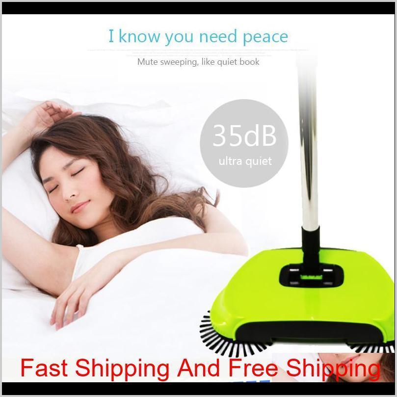 Hand Push Sweeping Machine Magic Broom Dustpan Handle Household Cleaning Package Hand-Propelled Sweeper Vacuum Floor Cleaner