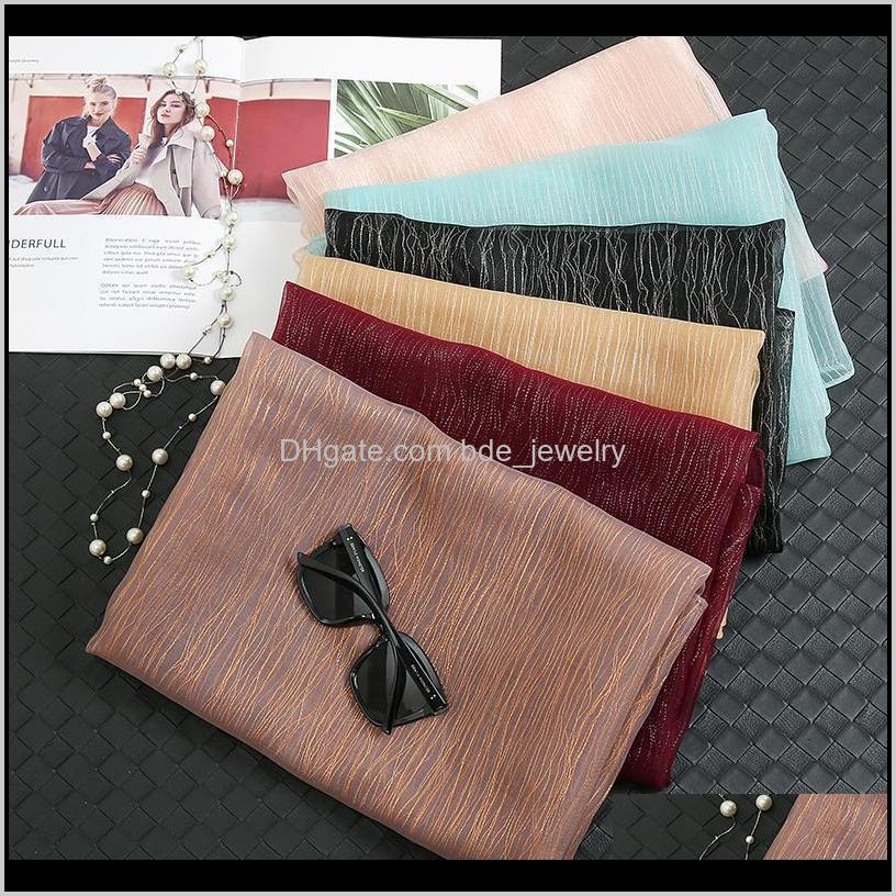 2021 newest glitter scarf silk scarves muslim hijabs women luxurious shawls fashion head wraps turbans large size headscarf