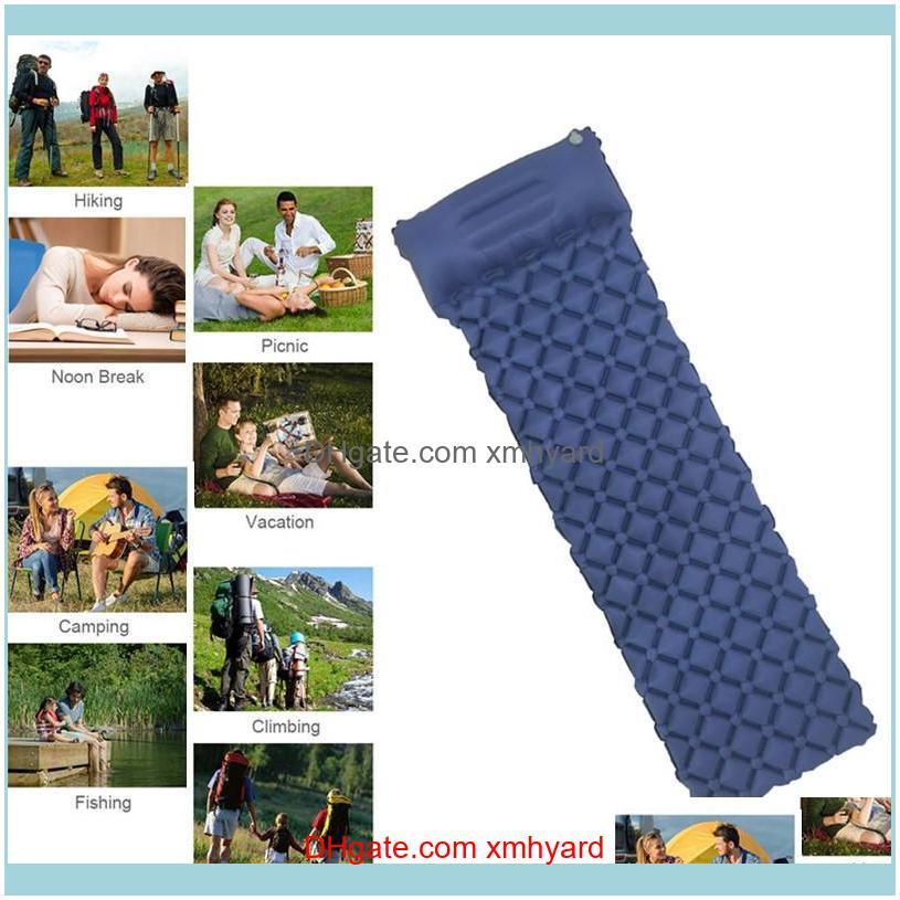 Inflatable Sleeping Pad With Pillow Air Mattress Camping Mat Casual Sofa For Hiking Travel Outdoor Pads