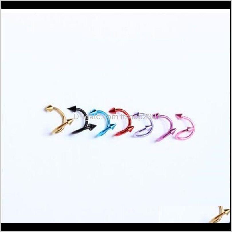 new wholesale jewelry labret lip rings body pierce nipple navel belly eyebrow bar rings ear bone nail shipping