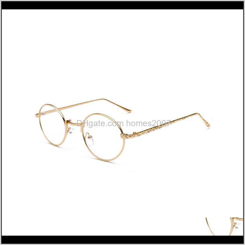 Round frame glasses frame female Korean version retro round face plain face full personality myopia glasses eye male1