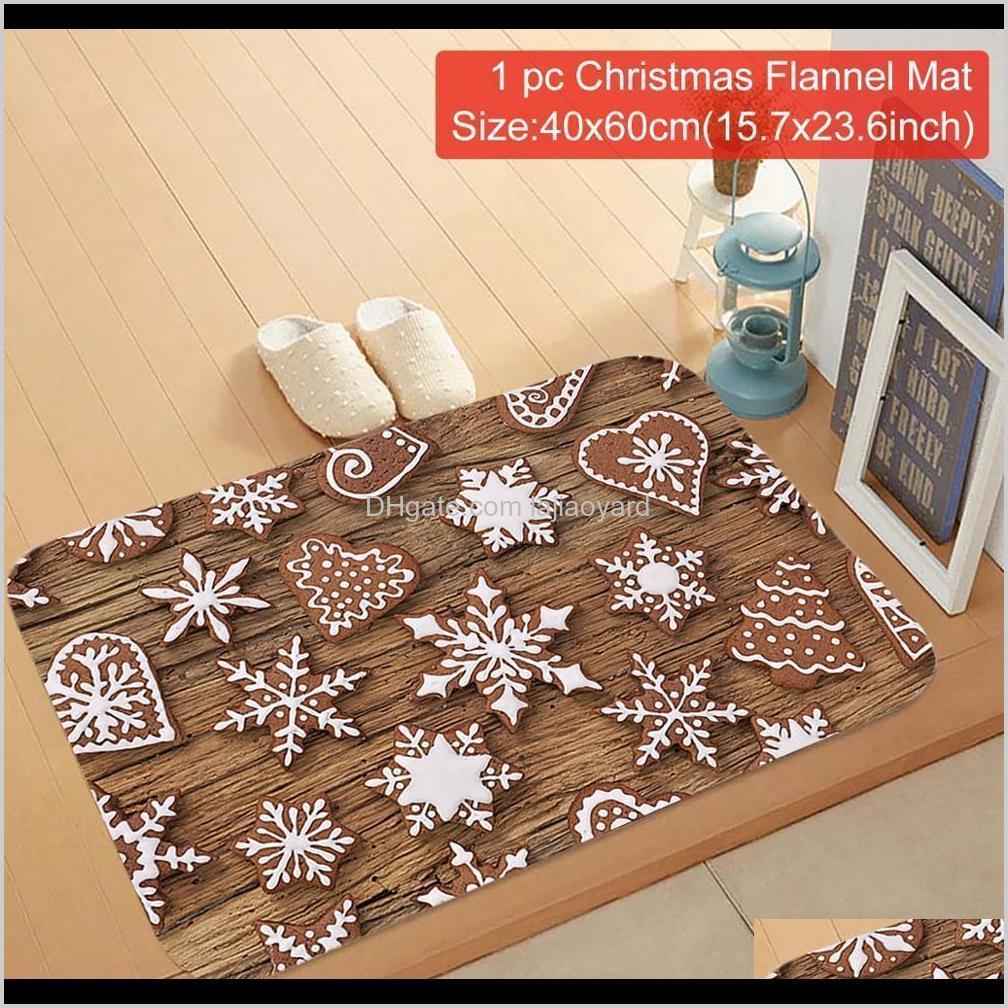 qifu mat flannel outdoor carpet merry christmas decrations for home party decoration for kitchen bathroom room door floor 4080 wmtxbb