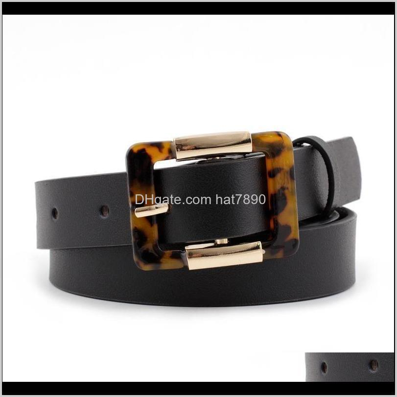 Women`s Wild Fashion Leopard Japanese Buckle Belt Square Pair Jeans Belt 3