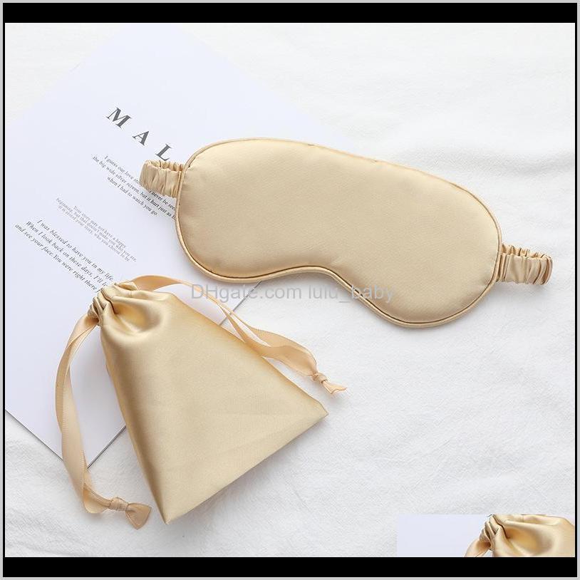 imitated silk sleep eye mask travel eyepatch nap eye patch rest blindfold eye cover sleeping mask night eyeshade with bag 10pcs