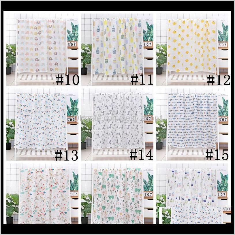 baby swaddle bath towels muslin newborn blanket wrap cotton bath towels air condition towel cartoon printed swaddling stroller cover