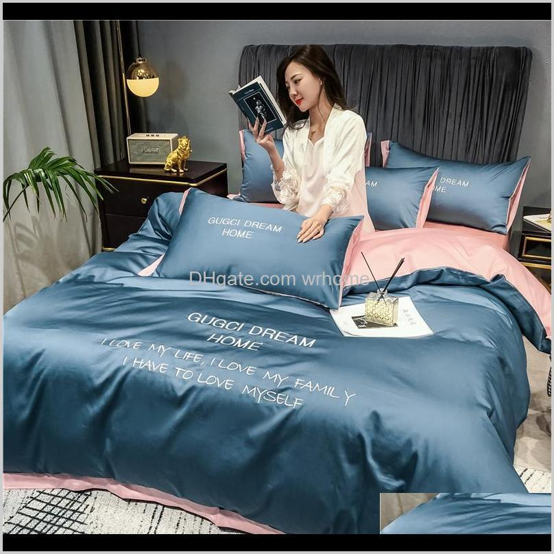 light luxury bed sheet 3-piece dormitory single bedding 4-piece nordic quilt