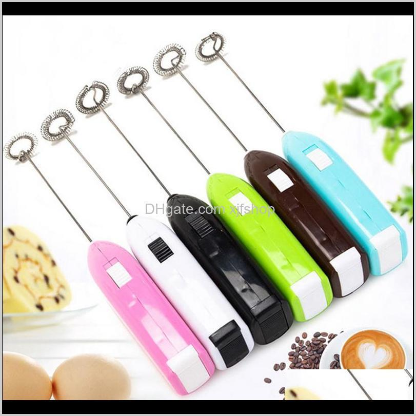 1pc electric egg beater milk drink coffee whisk mixer egg beater frother foamer mini handle stirrer household kitchen supplies
