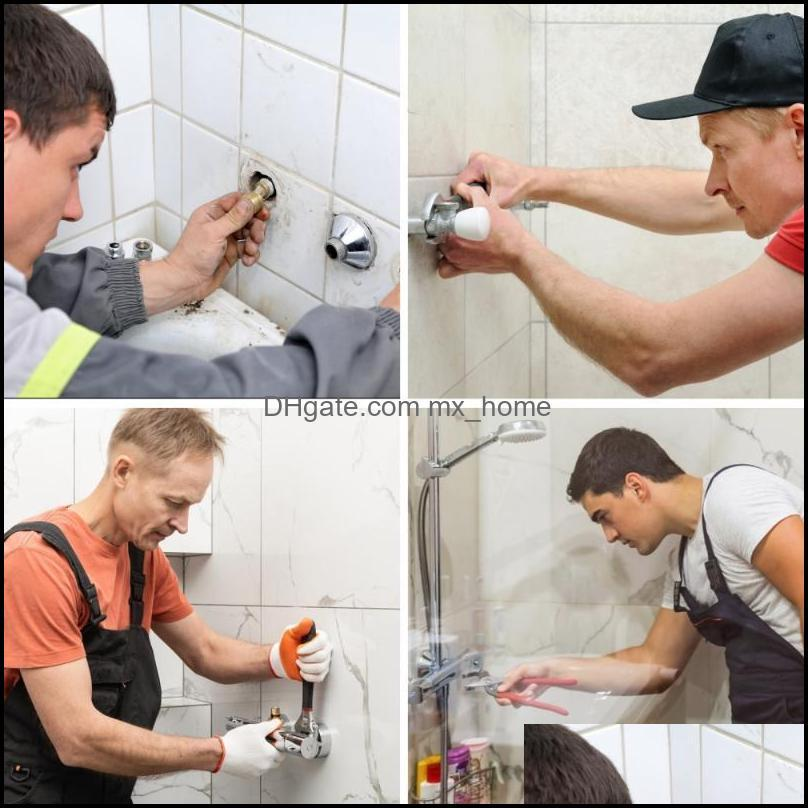 Kitchen Faucets 2pcs Triple Elbow Feet Curved Bathtub