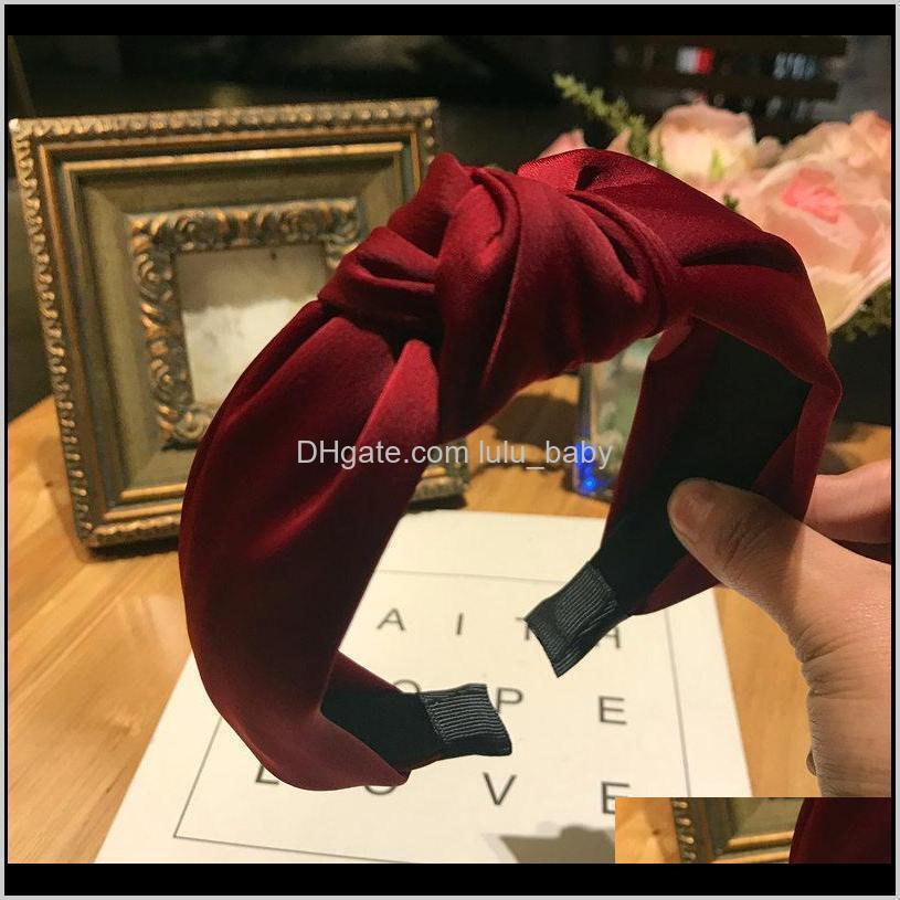 haimeikang plaid cottonhair accessories knotted hair band for women headbands hairbands headwear 2019 new fashion