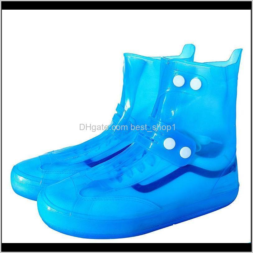 1 Pair Waterproof Protector Shoes Boot Cover Unisex Buckle Rain Shoe Covers High-Top Anti-Slip Thicken Rain Shoes Cases
