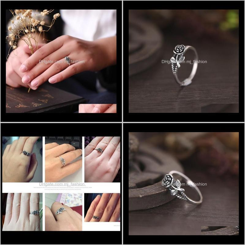 2021 vintage rose flower rings new arrival ring for women fine jewelry gift
