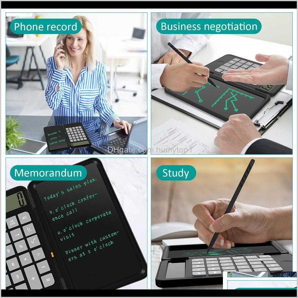 calculator handwriting board 6.0 inch writing tablet portable smart lcd graphics pad board drawing tablet paperless with rechargeable