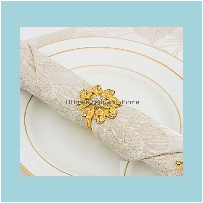8 Pack FlowerNapkin Rings,Delicate Alloy Napkin Holder Ring Buckles perfect Table Setting Decor for Thanksgiving,Christmas,Weddi1
