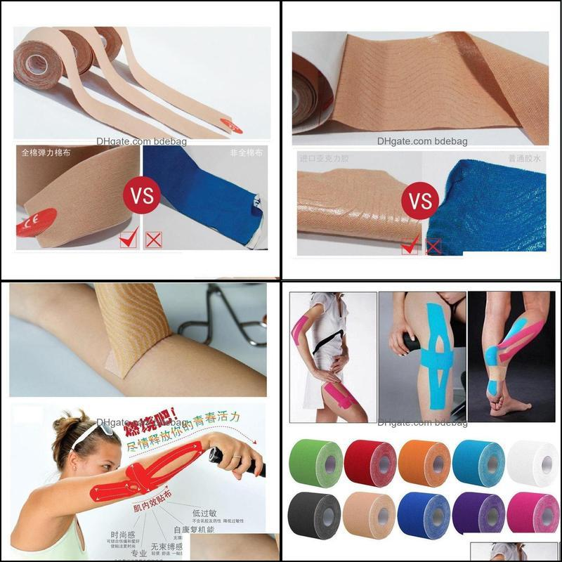 Elbow & Knee Pads 1 Roll 5M*5cm Kinesiology Elastic Tape Sports Physio Muscle Strain Support