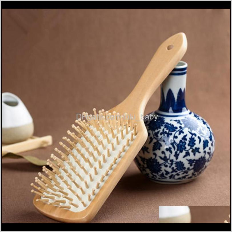 wood comb professional healthy paddle cushion hair loss massage brush hairbrush scalp hair care healthy bamboo comb