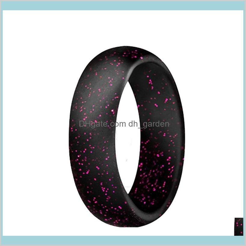 Silicone Wedding Rings Men Women Flexible