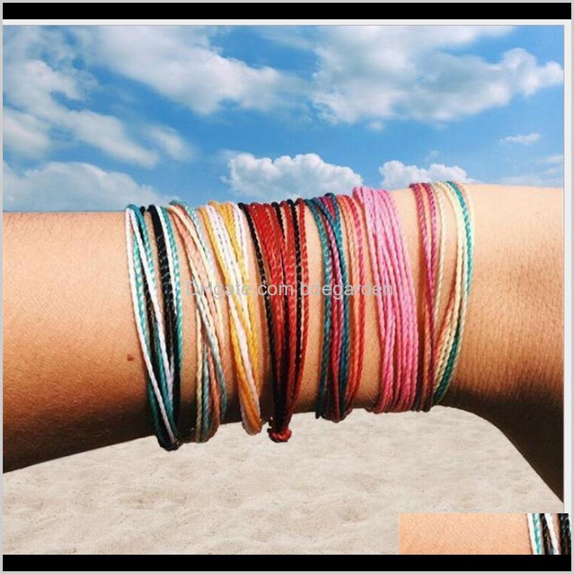styles handmade wax string thread bracelet multilayer friendship bracelets multicolour adjustable braided bangle women giftps1476