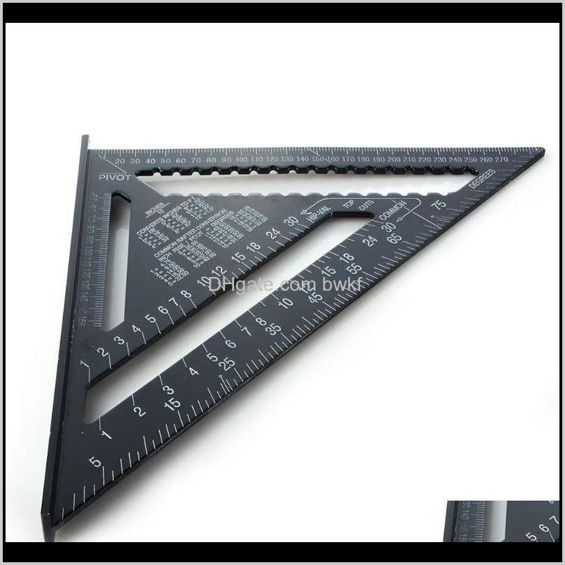 12 inch black triangle ruler woodworking measuring tool quick read square layout tool for woodworking gauge measuring tools