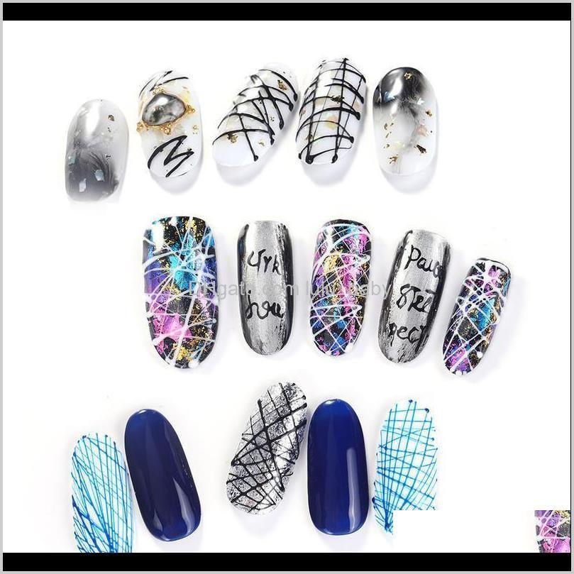 elite99 5ml drawing painting gel polish varnish soak off spider silk nail set for manicure art uv wire line kits