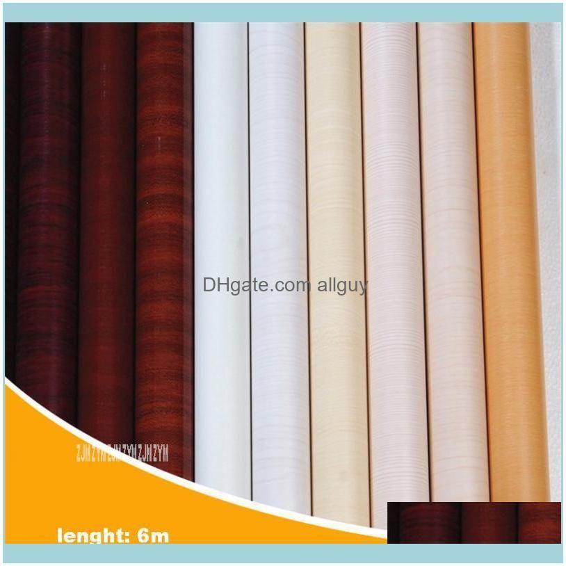 Wallpapers 122CM*6M PVC Waterproof Wallpaper Wood Grained Paper Cabinet Door Wardrobe Furniture Refurbished Imitation Thick