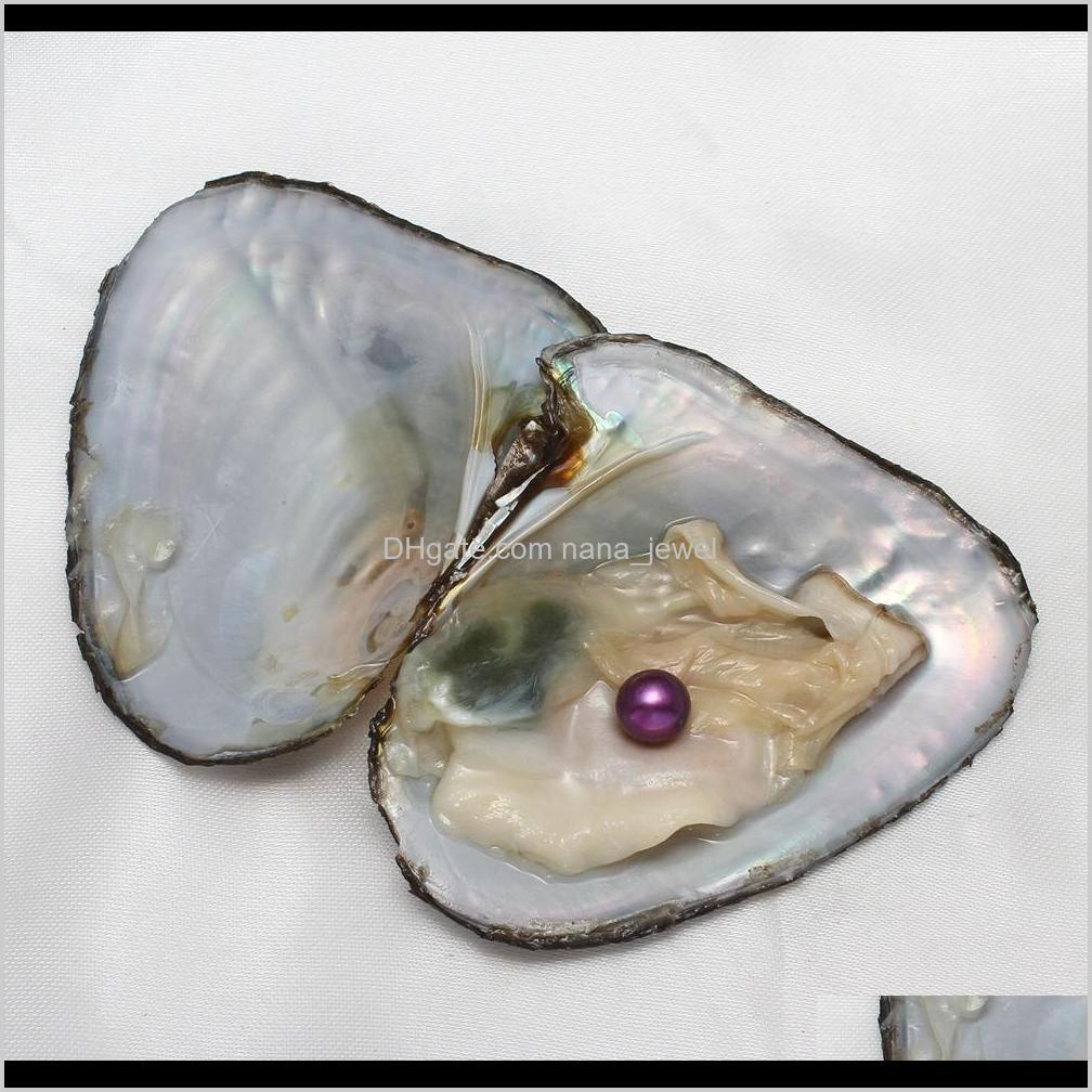 fancy gift akoya high quality cheap love freshwater shell pearl oyster 6-8mm mixed colors pearl oyster with vacuum packaging