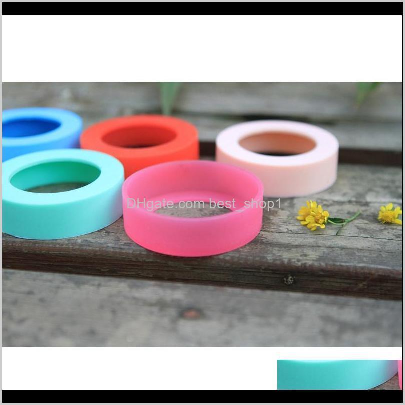 65mm bottle bumpers silicone coasters for tumbler travel mug cups water bottler bottom non-slip cover shipping