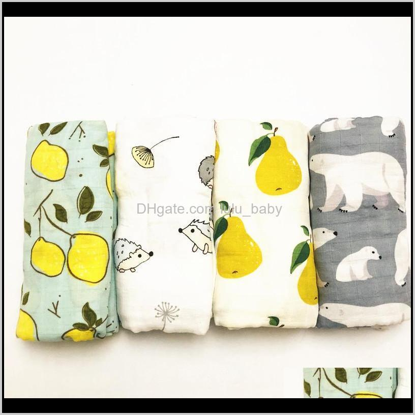 inch 47inch 70% bamboo+ 30% cotton baby swaddle wraps cotton baby muslin blankets newborn 100% bamboo muslin quilt lj200819