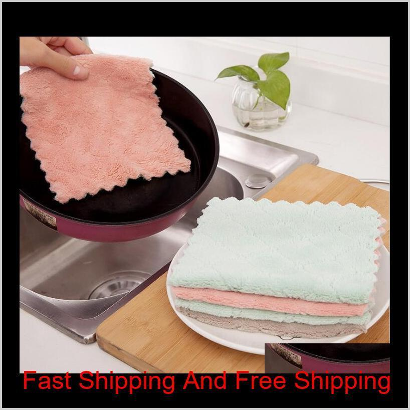 NEW Super Absorbent Microfiber kitchen dish Cloth High-efficiency tableware Household Cleaning Towel kichen tools gadgets cosina DHL