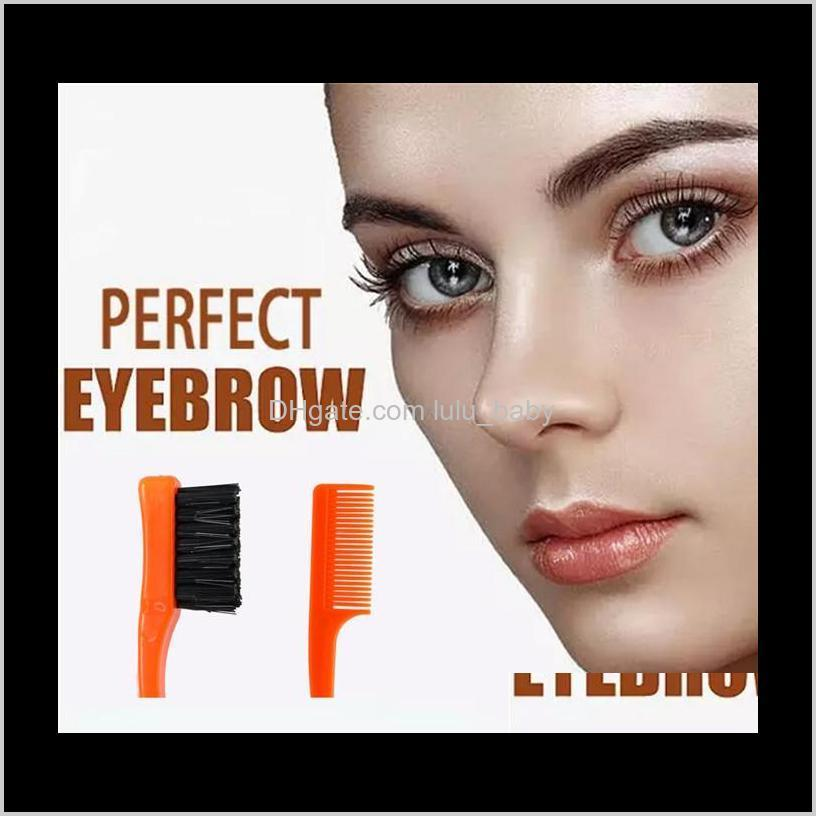 beauty double sided edge control hair comb hair styling tool hair brush toothbrush style eyebrow brush 500pcs