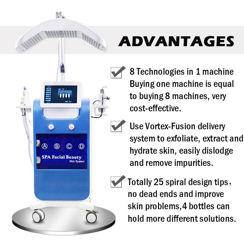 Hydra Facial 8 In 1 Diamond Dermabrasion Oxygen Injector For Head Spot Removal Microdermabrasion hydrafacial machine