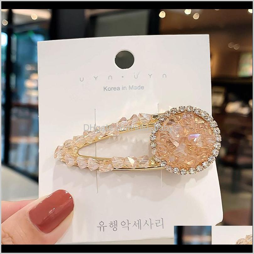 ins fashion crystal girls hair clips boutique designer hair clips women princess designer hair accessories for women bb clips
