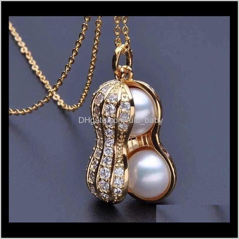 explosion paragraph 100% natural pearl necklace, jewelry has risen, peanut pendant, short sweater, necklace, clavicle chain wholesale