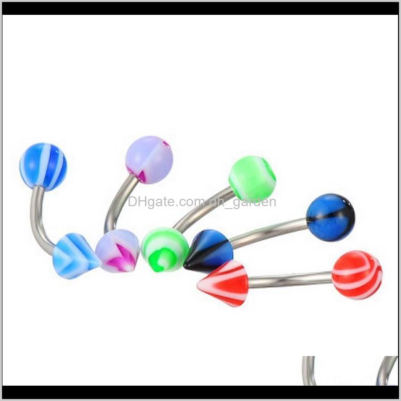 promotion 110pcs mixed models/colors body jewelry set resin eyebrow navel belly lip tongue nose piercing bar rings