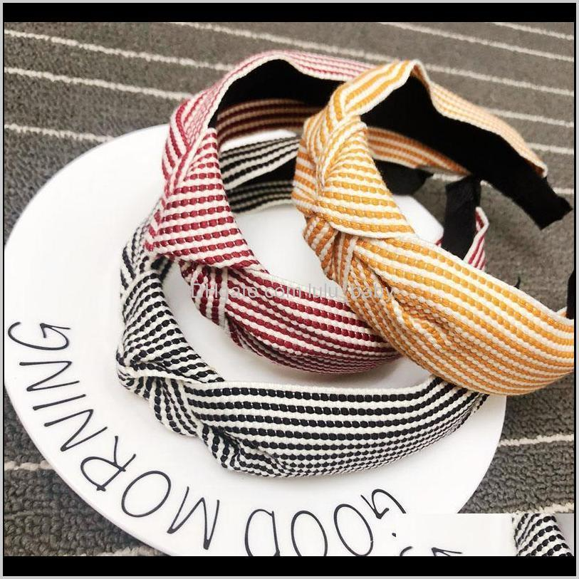 vintage striped knotted headband knot hairband hair accessories