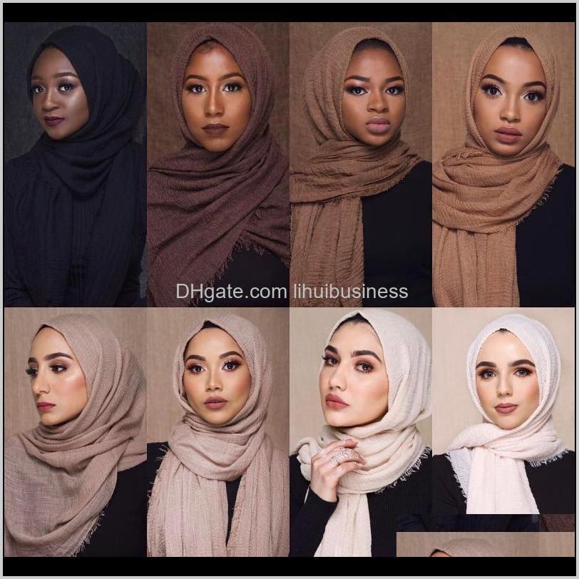 ethnic style head scarf turban inner hijab caps cotton and linen monochrome hair edge scarves femme musulman turbante muje shawl