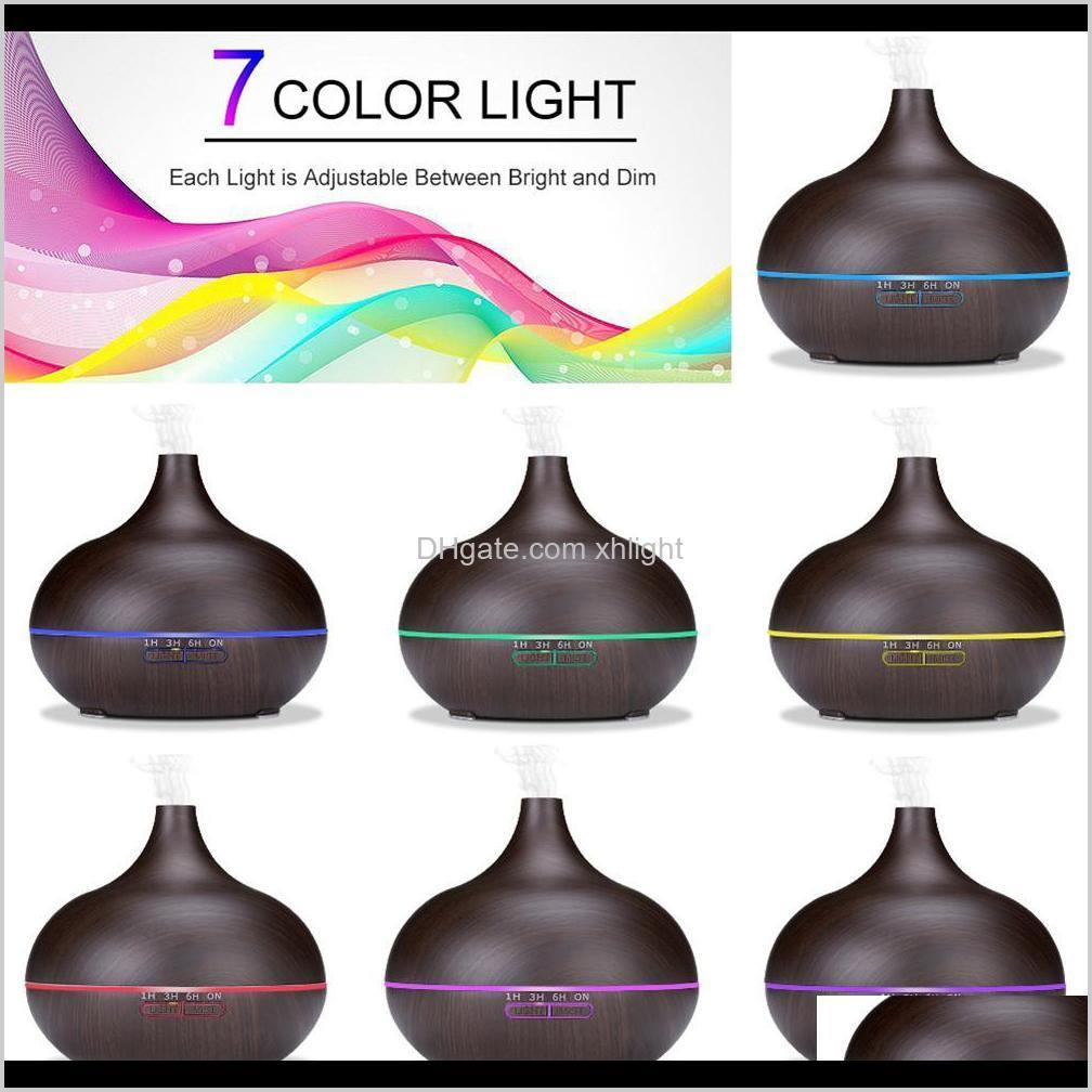 aromatherapy essential oil diffuser bamboo humidifier wood grain ultrasonic cool mist diffusers with 7 led color light a05