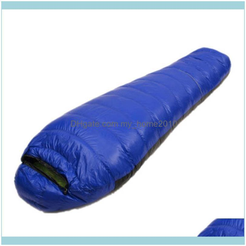 Sleeping Bags Outdoor Mummy Type Bag Ultra-light Spring Autumn White Duck Down Adult Camping Hiking Climbing Travel Bed