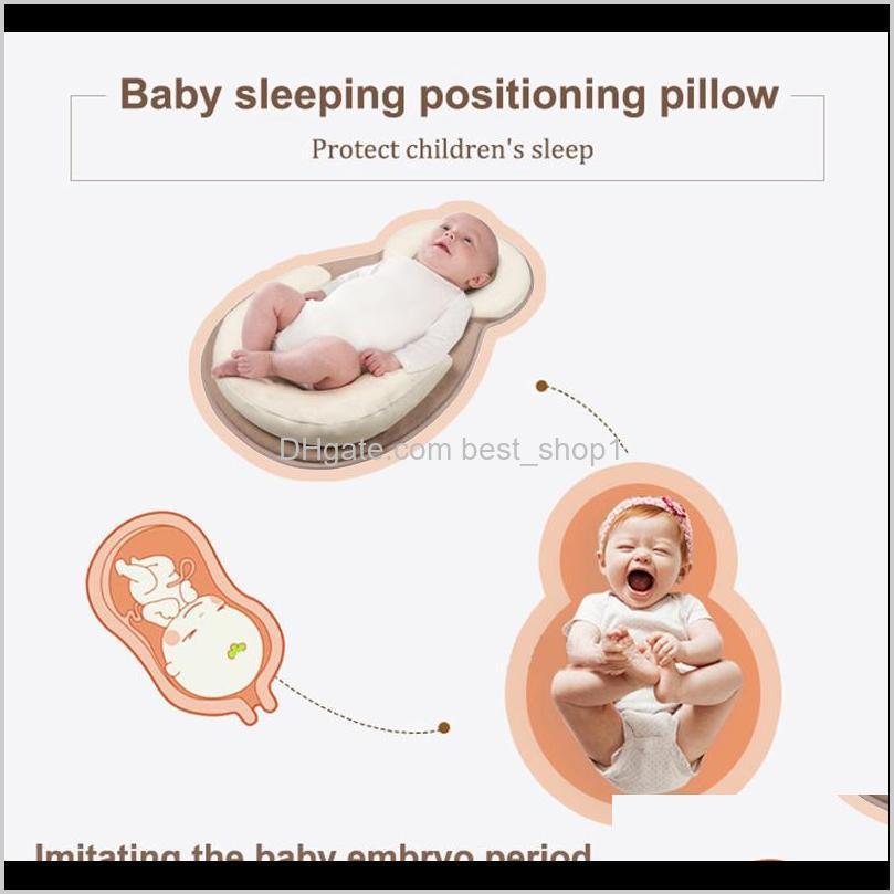 baby pillow infant newborn mattress pillow baby sleep positioning pad prevent flat head shape anti roll pillows drop shipping