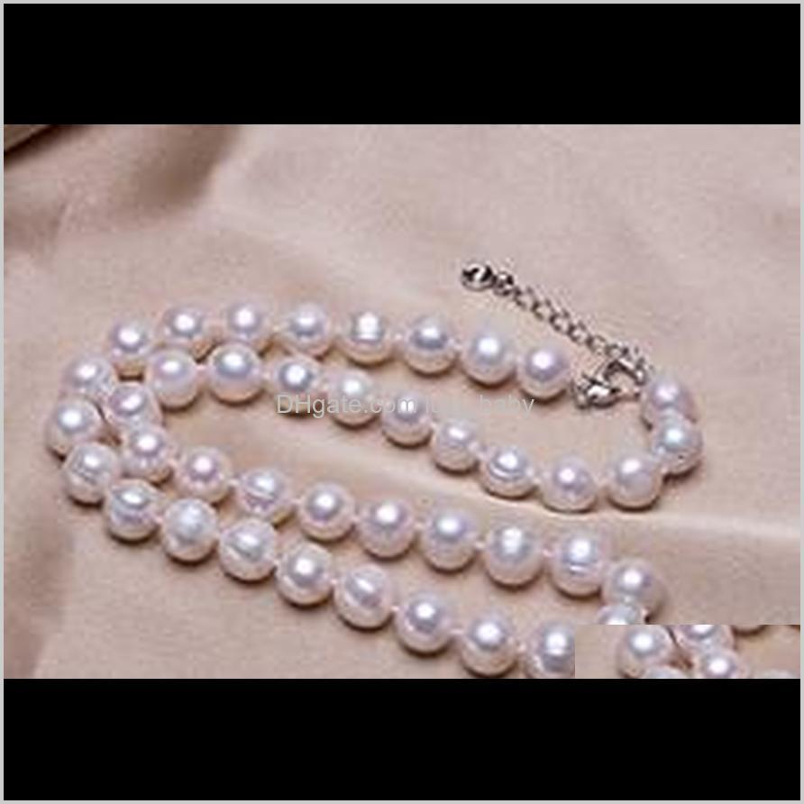 wholesale hot ms. nearly perfect circle 10-11mm natural white pearl necklace cx10jl78