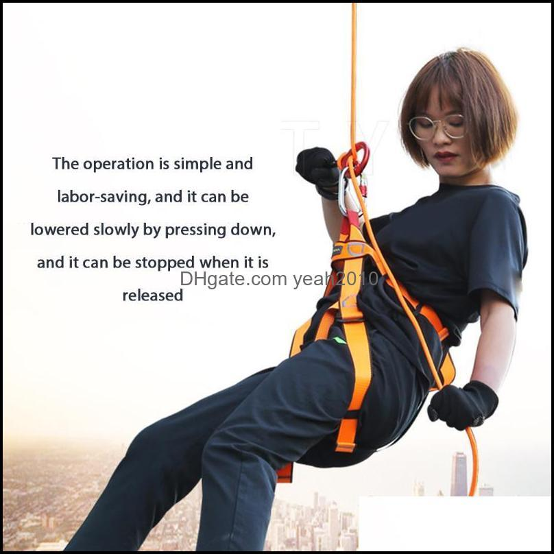 Cords, Slings And Webbing 9-ring Dropper 8-ring Upgrade Downhill Equipment Rock Climbing Descent Device Rappelling Portable Camping