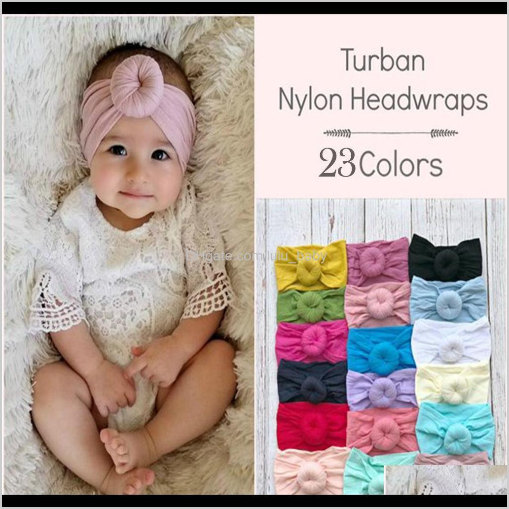 boutique baby headbands knot ball hairband circle knotted soft nylon head wraps for newborn infant toddlers girl kids hair accessories