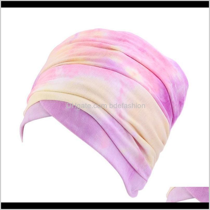 new fashion women african pattern flower turban muslim turban headscarf headwrap ladies chemo cap bandanas hair accessories