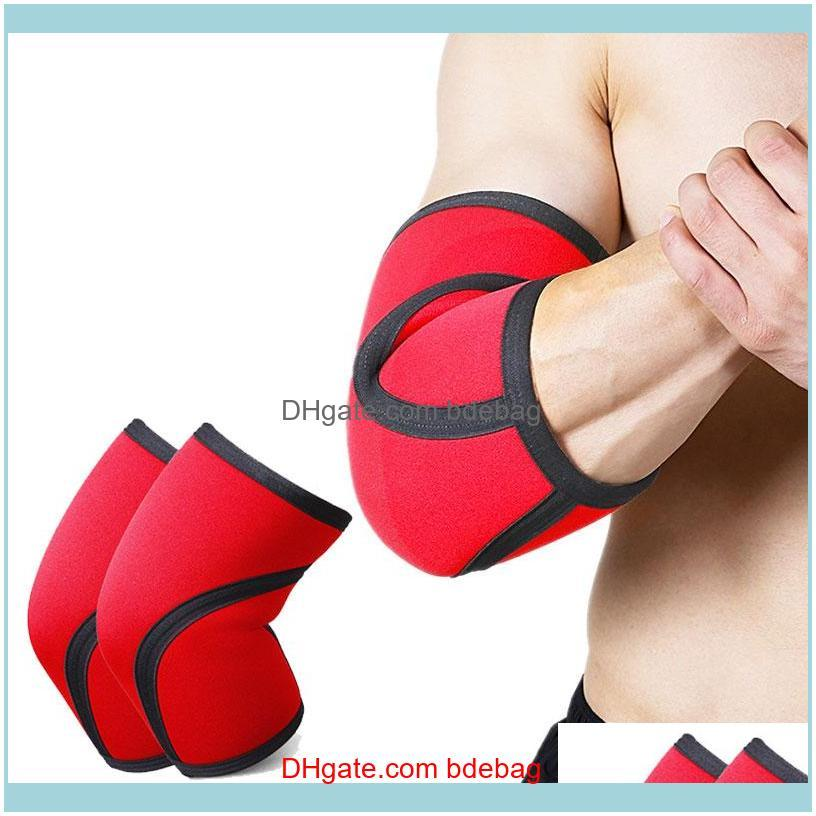 7mm Neoprene Weightlifting Elbow Support Brace Thicken for Crossfit Powerlifting Fitness Compression Elbow Protector Sleeve